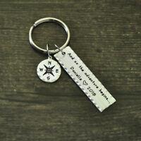 Personalized Graduation Gift Inspirational Compass Keychain University Keychain