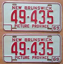 New Brunswick 1969 License Plate PAIR - HIGH QUALITY # 49-435