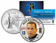 ALEX RODRIGUEZ Colorized New York State U.S. Quarter Coin BUY 1 GET 1 FREE bogo