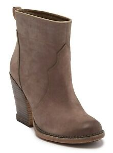 Timberland Womens Marge Short Pull On Boot Leather Heel Bootie Taupe Gray Size 9