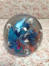 VTG MURANO ART GLASS AQUARIUM FISH TANK PAPERWEIGHT SCULPTURE ITALIAN
