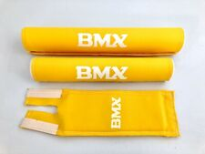 BMX Polster Set Pad Set NEU Old School Retro Gelb 3-teilig