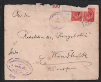South West Africa 1918 KGV WWI Censored B100 cover to Windhoek WS13289