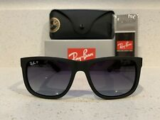 Ray-Ban Rb4165 622/T3 Matte Black Justin Classic Wayfarer?Polarized Sunglasses