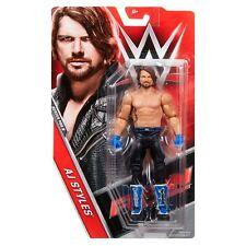 WWE AJ STYLES BASIC SERIES 68.5 68 68B WRESTLING MATTEL ACTION FIGURE SMACKDOWN