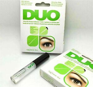 UK Duo Brush on Strip False Eyelash Adhesive Clear Glue with Vitamins 5g