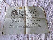 Placard  Affiche 1811 Convoi Funèbre Commune de Montmartre JB Bonier