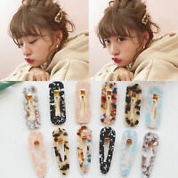 1X Women Vintage Leopard Hair Clip Hairband Comb Bobby Pin Barrette Hairpin CA R