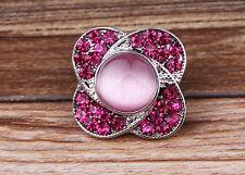 2017 new DIY  rhinestone cat eye stone chunk snap button fit nosa bracelet j2904