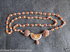 JAVA 1 Mukhi Rudraksha Rudraksh 5 Face Mala Rosary White Metal Cap #14