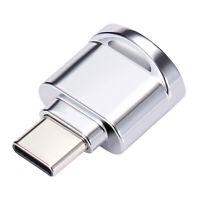 TF Kartenleser Mini USB 3.1 Typ C OTG Adapter für Micro SD Karte Silber