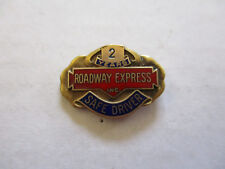 vintage Roadway Express 2yr Trucker Trucking Safety Award Safe Driving Pin