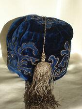 coiffe ancienne de fumeur velours de soie - antique victorian gents smoking cap