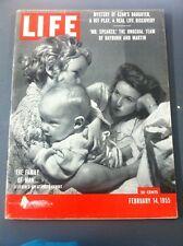LIFE MAGAZINE FEBRUARY 14, 1955 FAMILY MAN - RAYBURN & MARTIN
