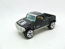 HOTWHEELS HUMMER H3T 2004 IN GLOSS BLACK AND SILVER