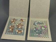 Tom and Jerry Vending Stickers Lot Of 2 Rare Prism Vintage