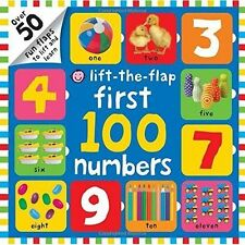 Lift-the-Flap First 100 Numbers by Roger Priddy (Board book, 2014)