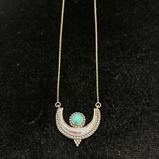 NEW Sterling Silver Necklace Turquoise Stamped 925 Protection Luck Blue S/S