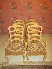 Ethan Allen Country French Bisque Set of 6 Ladderback Chairs  26 6310