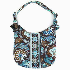 Vera Bradley Java Blue Olivia Small Purse Bag Retired 2010 Top Zip Blue Brown