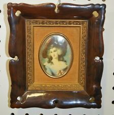 VINTAGE Wall Hanging PICTURE Plastic LADY SHEFFIELD GAINSBOROUGH Replica Cameo