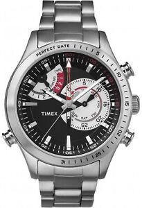 Timex TW2P73000 Men's Intelligent Chronograph Timer Watch Steel Bracelet