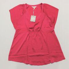 a Glow Maternity Pink Satin Top Shirt Extra Large XL Empire Waist