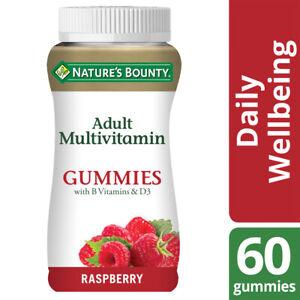 Nature's Bounty Adult Multivitamin Gummies with B vits & D3 - Raspberry - 60 Pk
