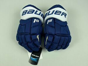 New! Bauer Supreme 1S Toronto Maple Leafs NHL Pro Stock Hockey Player Gloves 13""