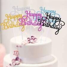 Cake Topper Happy Birthday Stecker Torten Deko Geburtstag Tortenaufsatz