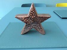 Rose Gold Hammered Star Freestanding Ornament