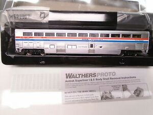 Walthers Proto Ho 920-12051 85' Superliner Coach-Baggage, Amtrak, lighted