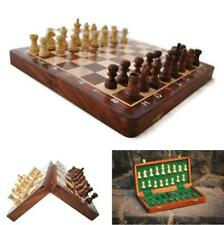 "Magnetic 12""x12"" Premium Wooden Travel Chess Set Game with Folding Board New 1"