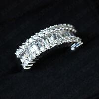 3.00 Ct Baguette Cut Diamond 14k White Gold Finish Anniversary Wedding Band Ring