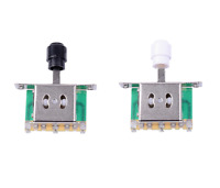 3-Way Pickup Selector Switch BLACK or WHITE Toggle fits Tele TL  Electric Guitar