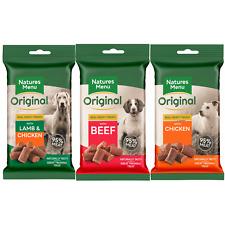 Natures Menu Dog Treats BULK BUY 1 3 9 or 12 Packs Chicken, Beef, Lamb & Chicken
