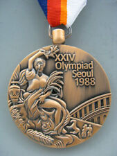 1988 Seoul South Korea Olympic Bronze Medal With Ribbons & Stand Free Shipping