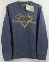 Lucky Brand Fender Guitars Custom Shop Blue Crewneck Sweater/Sweatshirt