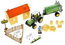 Farm Play Set Sheep Barn Tractor Pretend Kids Toddler Gift Boy Girl Toy Hay NEW