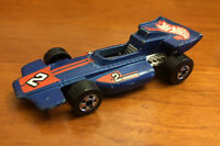 VTG 1973 Mattel Hot Wheels Real Riders Blue Indy Formula #2 Diecast Toy Race Car
