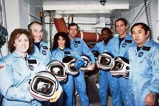 STS-51L Space Shuttle Challenger Crew 12x18 Silber Halogen Fotodruck