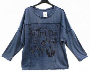 NEU Italy Moda Tunika Tunic Tunique Shirt XL 48 50 Lagenlook **