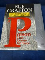 """NEW Sue Grafton Mystery 1000 Piece Jigsaw Puzzle """"A Poison That Leaves No Trace"""""""