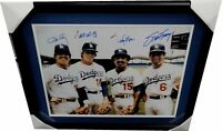 Ron Cey Steve Garvey Russell Davey Lopes Auto 16x20 Photo Dodgers Infield Frame