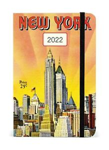 Cavallini 2022 Diary - New York Weekly Planner - 4x6ins - Week To View