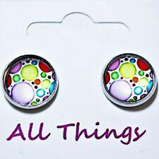 Colourful Circle Stud Earrings