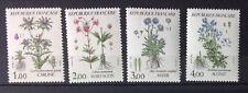 série 4 timbres neufs fleurs de montagne France 1983