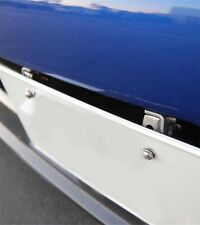 Silver Adjustable Front License Plate Bracket Holder JDM Mount Relocator Support