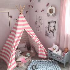 Tente de Princess en Toile de Coton en Forme de Tipi Pour Enfants