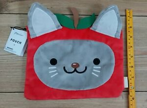Paperchase Pouch Pencil Case Buddies Mimi the Cat Large Furry Pouch with Zip